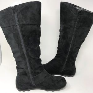 Maurices Shoes - Maurices Tall Faux Black Suede Boots 8 1/2
